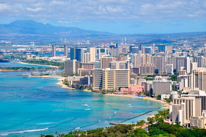 Honolulu  - Die Metropole auf Hawaii mit dem berühmten Waikiki Beach