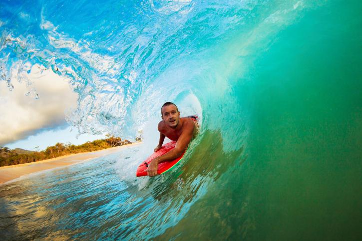 Surfen auf Hawaii - Surfboards können Sie ab $10 ausleihen