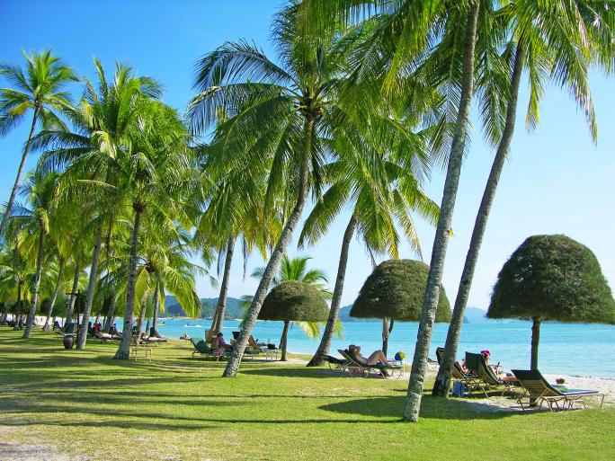 Cencang Beach auf Langkawi