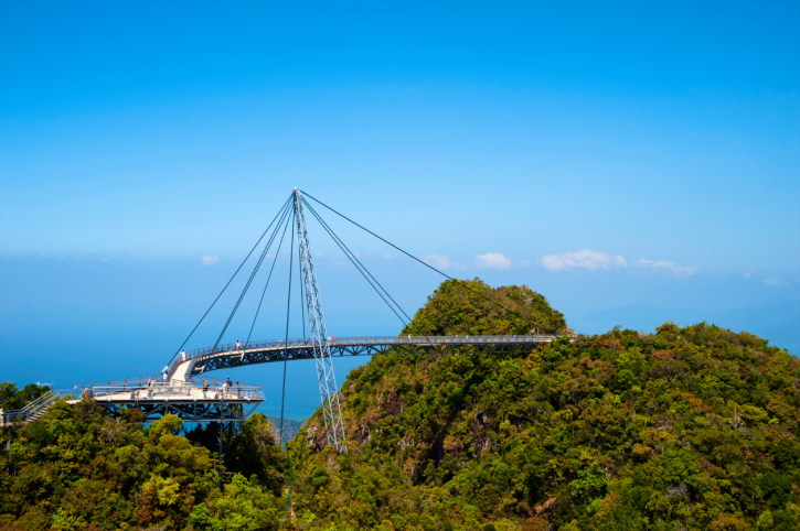 Ein faszinierendes Bauwerk - Die Sky Bridge auf der Insel Langkawi