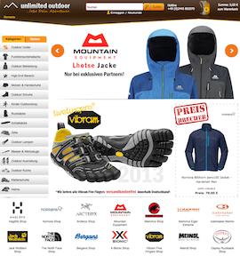 Unlimited-Outdoor.de Online Shop