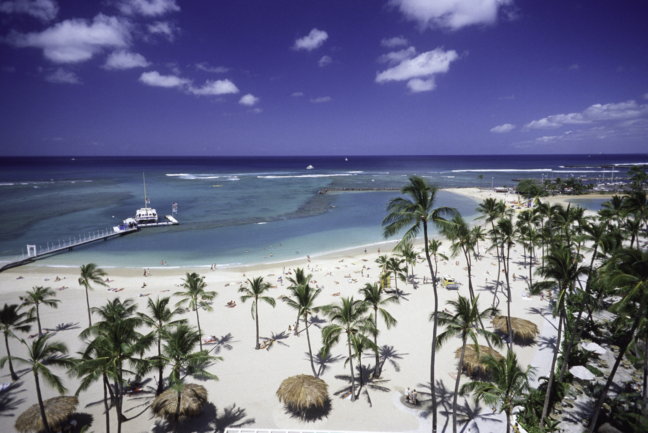 Waikiki Beach auf O'ahu