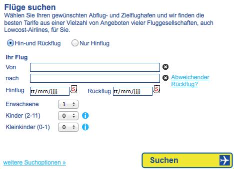 Flüge bei Cheaptickets.de
