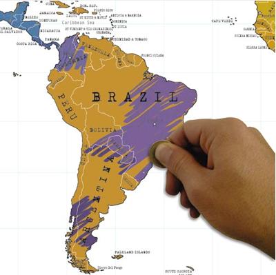 Geschenkidee Scratch-Map
