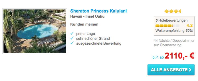 Thomas Cook Hawaii Urlaub