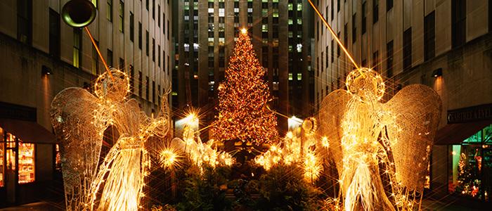 Weihnachtsbaum vor dem Rockefeller Center