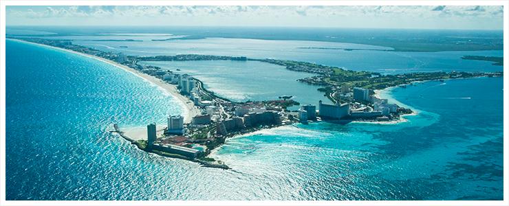 Anflug Cancun