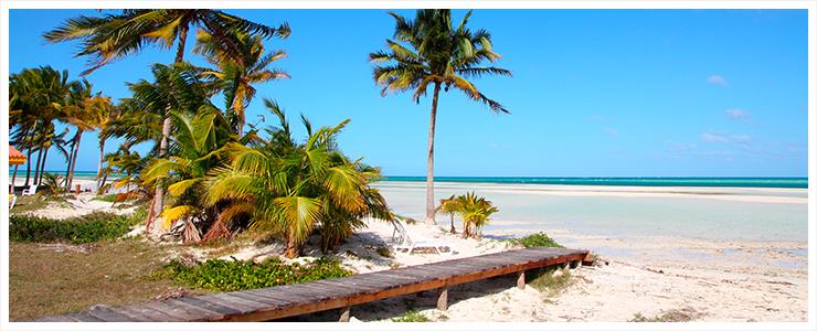 Weißer Sandstrand Kuba