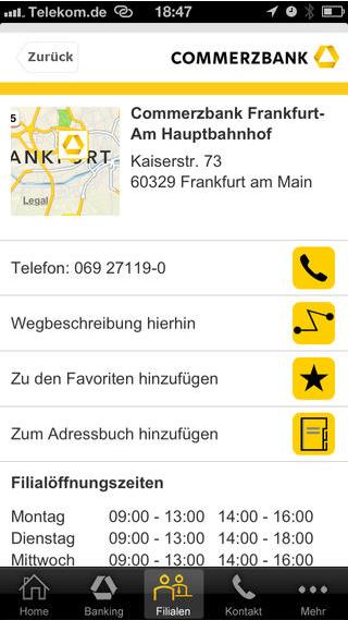 Commerzbanking: Geldautomaten finden