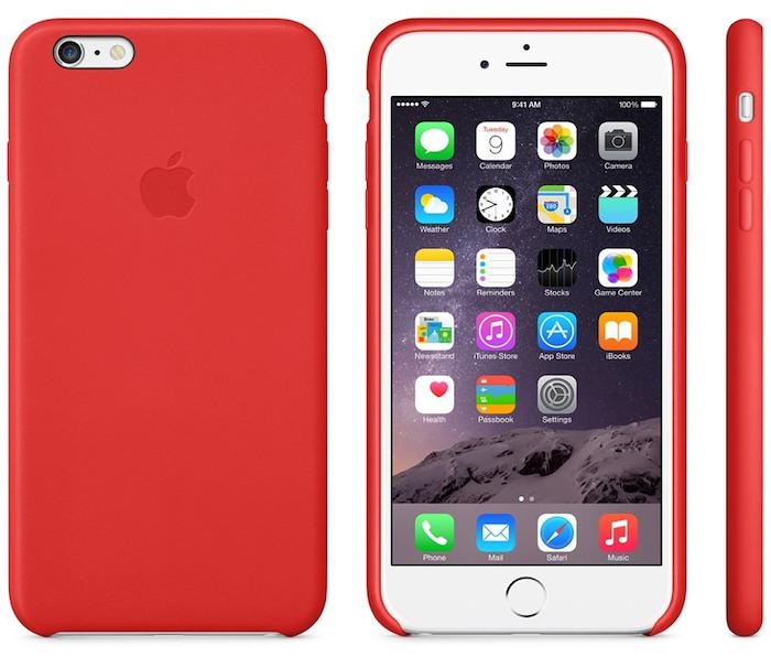 Schutzhülle aus Leder für das iPhone 6 in Rot bei Amazon.de (45€)