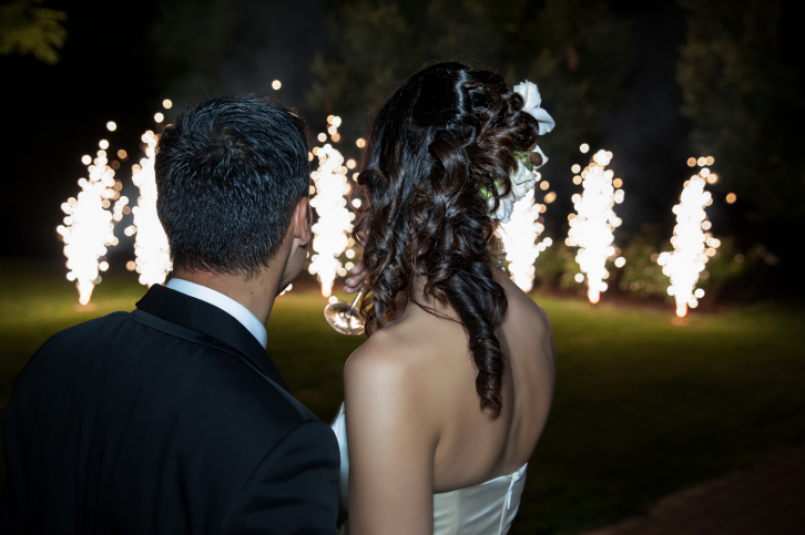 Hochzeitsfeuerwerk