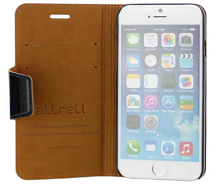 """Elegante Ledertasche für Apple iPhone 6 4,7"""" (Preis bei Amazon 14,95€)"""