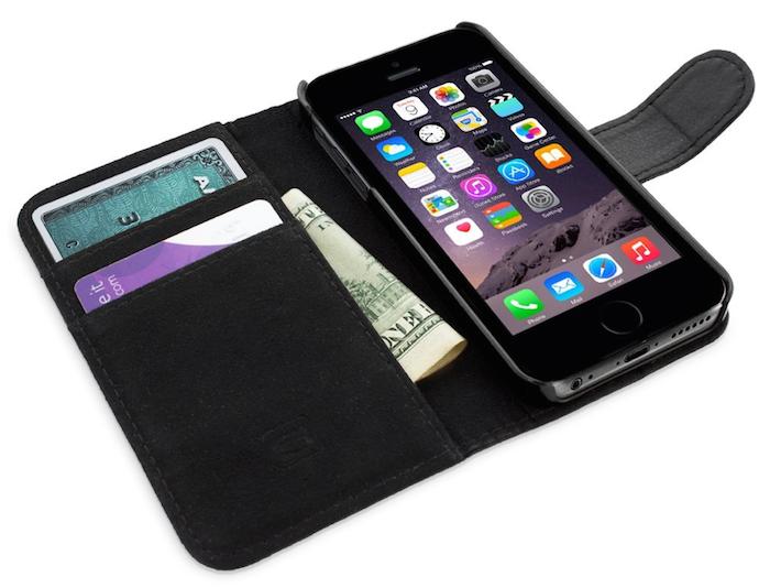 Snugg iPhone 6 Leder-Klappetui mit Kartenfächern (Preis bei Amazon nur 14,99€)