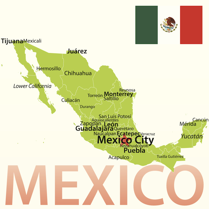 mexiko-landkarte