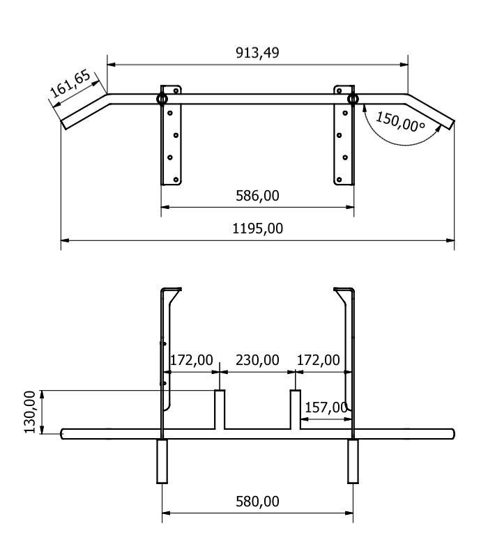 HOLD STRONG Fitness Klimmzugstange - Modell HS-K-W6
