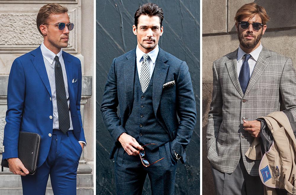 Der Anzug in Blautönen und mit Karomuster erfährt ein Revival. Fashion ID interpretiert den Gentleman Code neu.