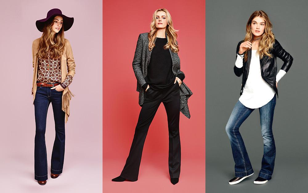 Moderne Tragevarianten und Stylings von Schlaghosen finden sich auf der Seite von Fashion ID