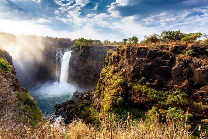 Wasserfall in Sambia Afrika | © panthermedia.net / Zdeněk Malý
