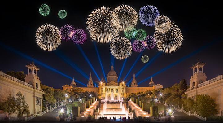 Feuerwerk in Barcelona | © panthermedia.net / Hanna Slavinska