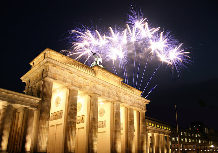 Feuerwerk in Berlin am Brandenburger Tor | © panthermedia.net / Andreas Weber