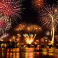 Großes Feuerwerk an Silvester
