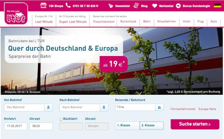 Buchen Bahn L'TUR
