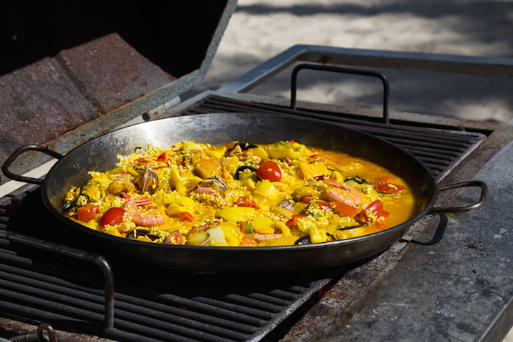 Paella vom Grill | © panthermedia.net /8vfanrf