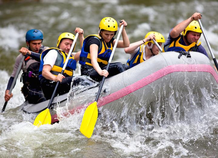 Wildwasser Rafting Tirol | © panthermedia.net /vilevi