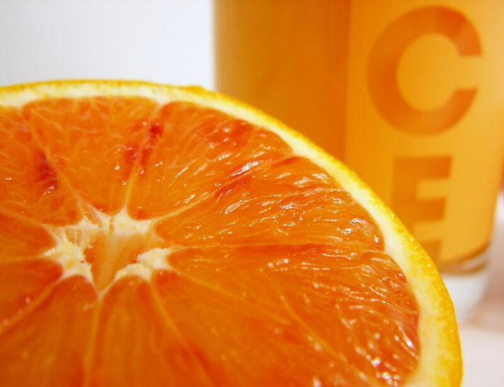 Nahaufnahme einer Orange | © panthermedia.net /Joerg. Mikus